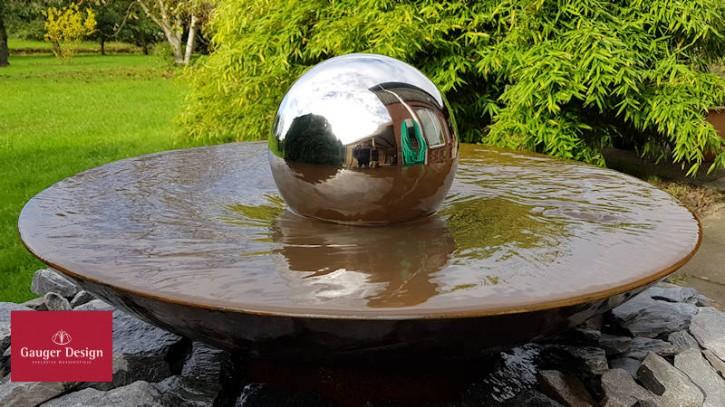 Wasserschale Cortenstahl Modell Dancing Ball