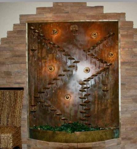 Wandbrunnen Kupfer Feline