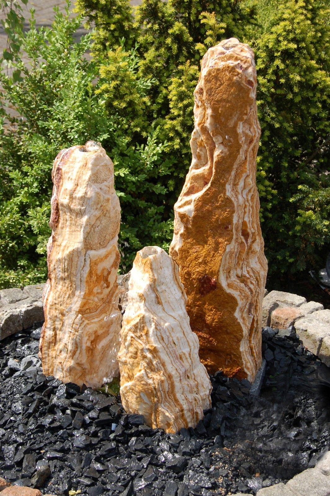 Gartenbrunnen Quellstein 3-Set Dusti