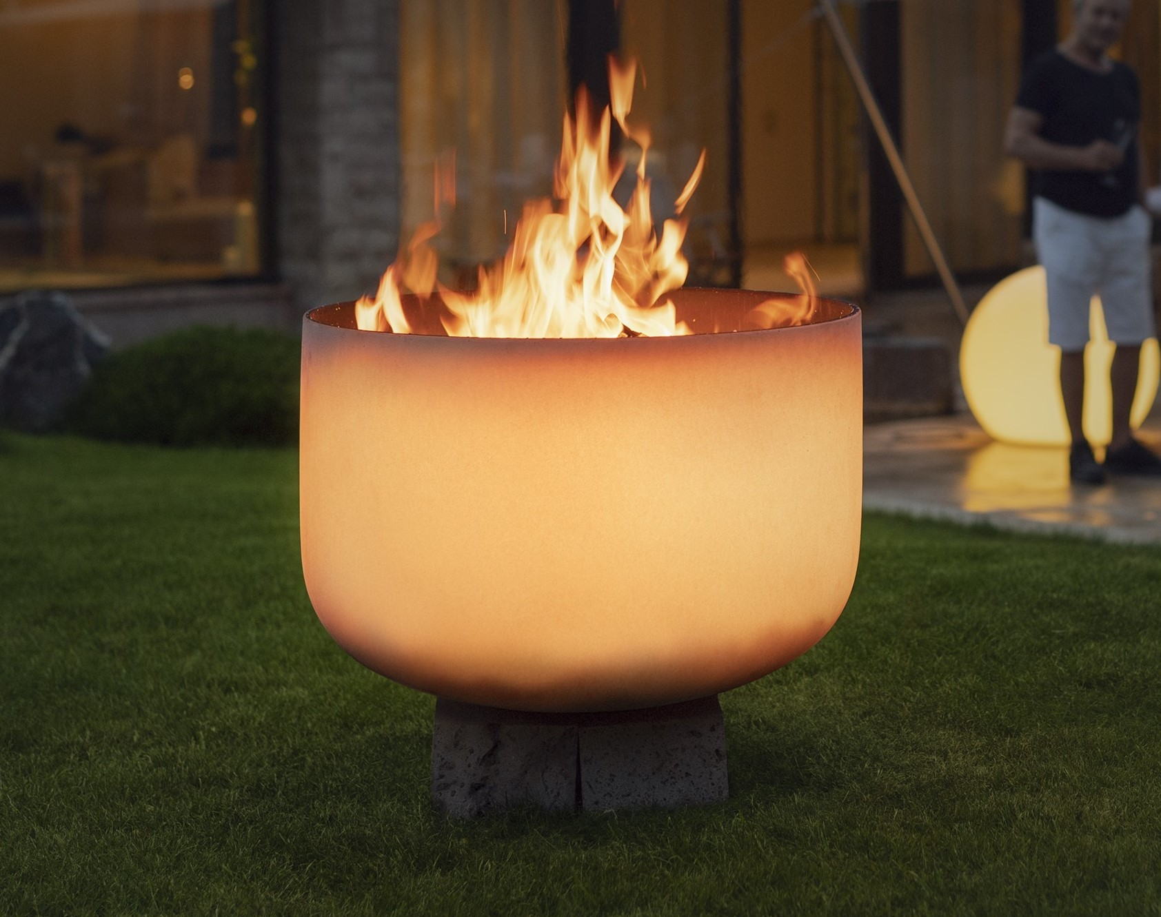 Qflame Feuerschale aus Quarzglas Ø 50 cm