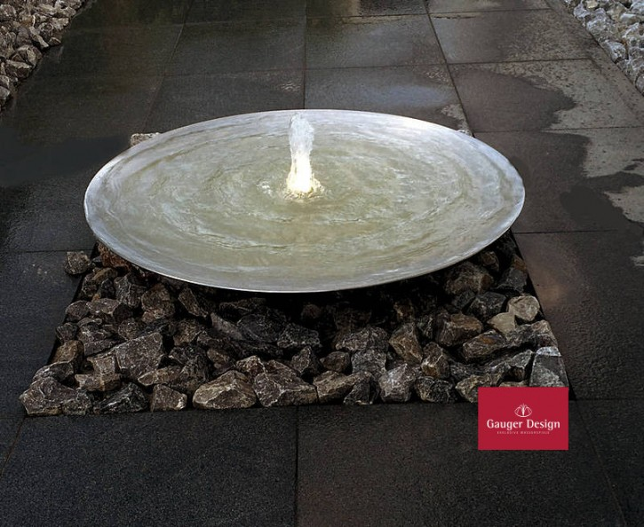 Wasserschale aus Edelstahl Modell Wahida